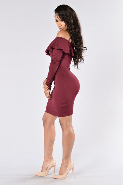 Skyline Dress - Burgundy