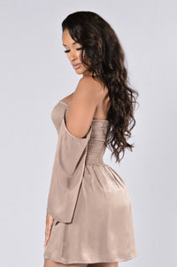 If You Ever Leave Dress - Taupe