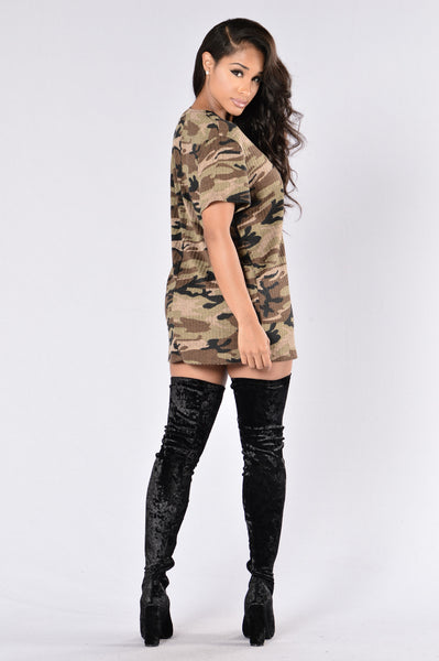 Catch Me If You Can Tunic - Camo