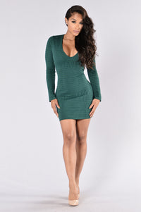 Can't Live Without Me Dress - Hunter Green