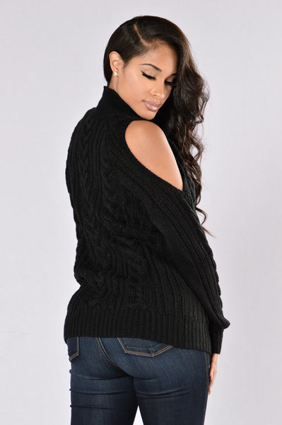 Gorgeous You Are Sweater - Black