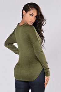Work Of Art Top - Olive