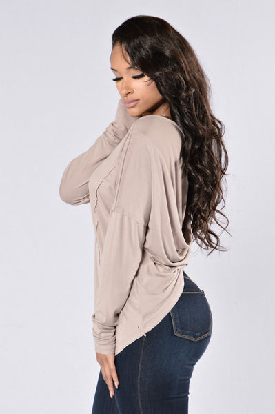 Take My Breath Away Top - Taupe