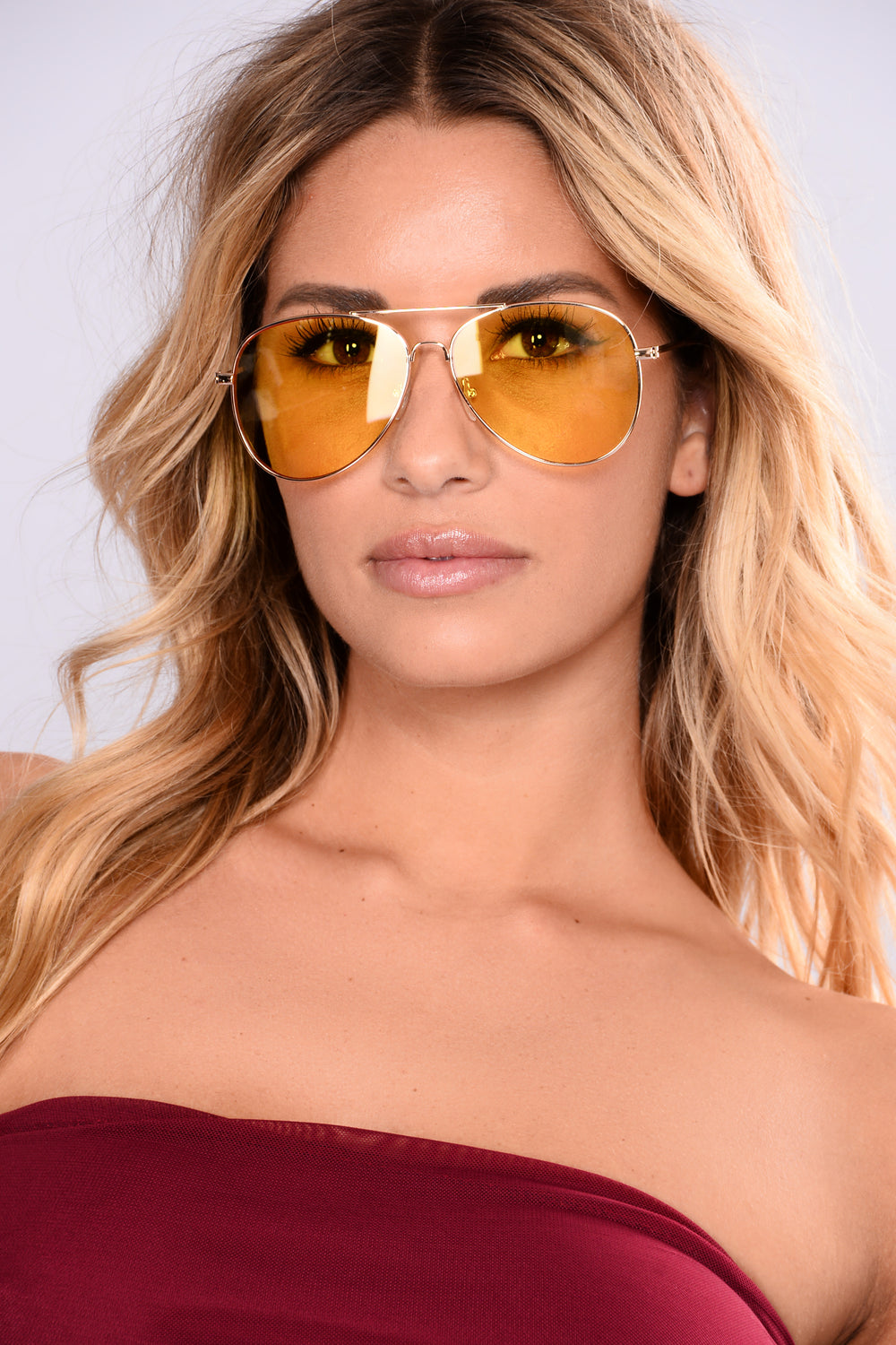 Tinted Love Sunglasses - Yellow