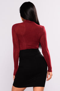 Midnight Sun BodySuit - Burgundy