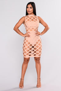 Pizzazz Bandage Dress - Nude