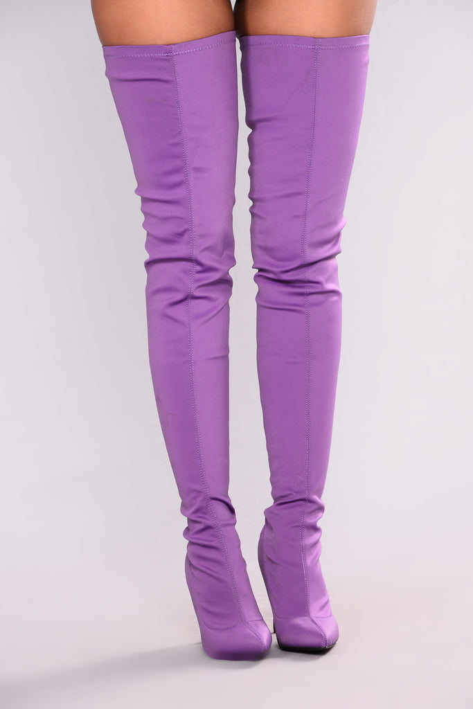 Keyana Thigh High Boot Purple