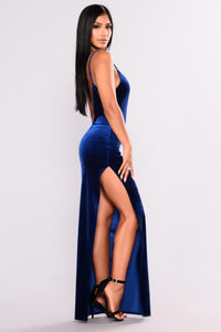 Galant Velvet Dress - Royal