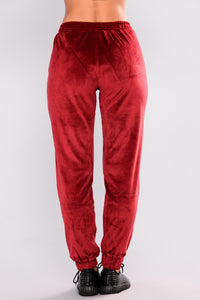 Robertson Velour Pants - Red Angle 5