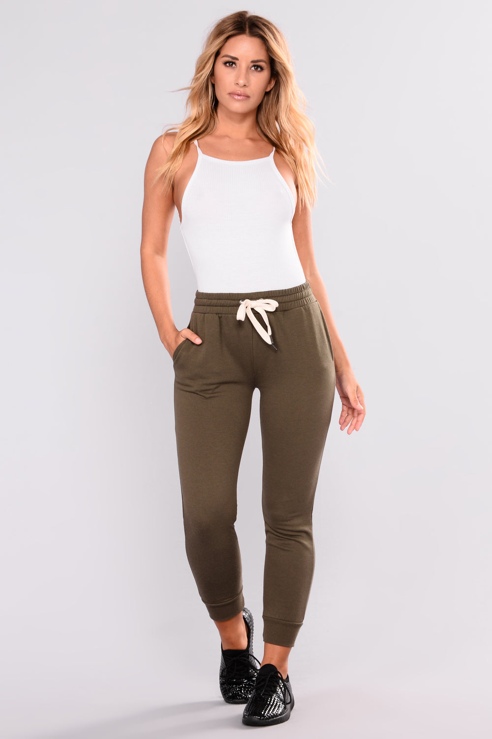 Easy As Can Be Basic Joggers - Olive