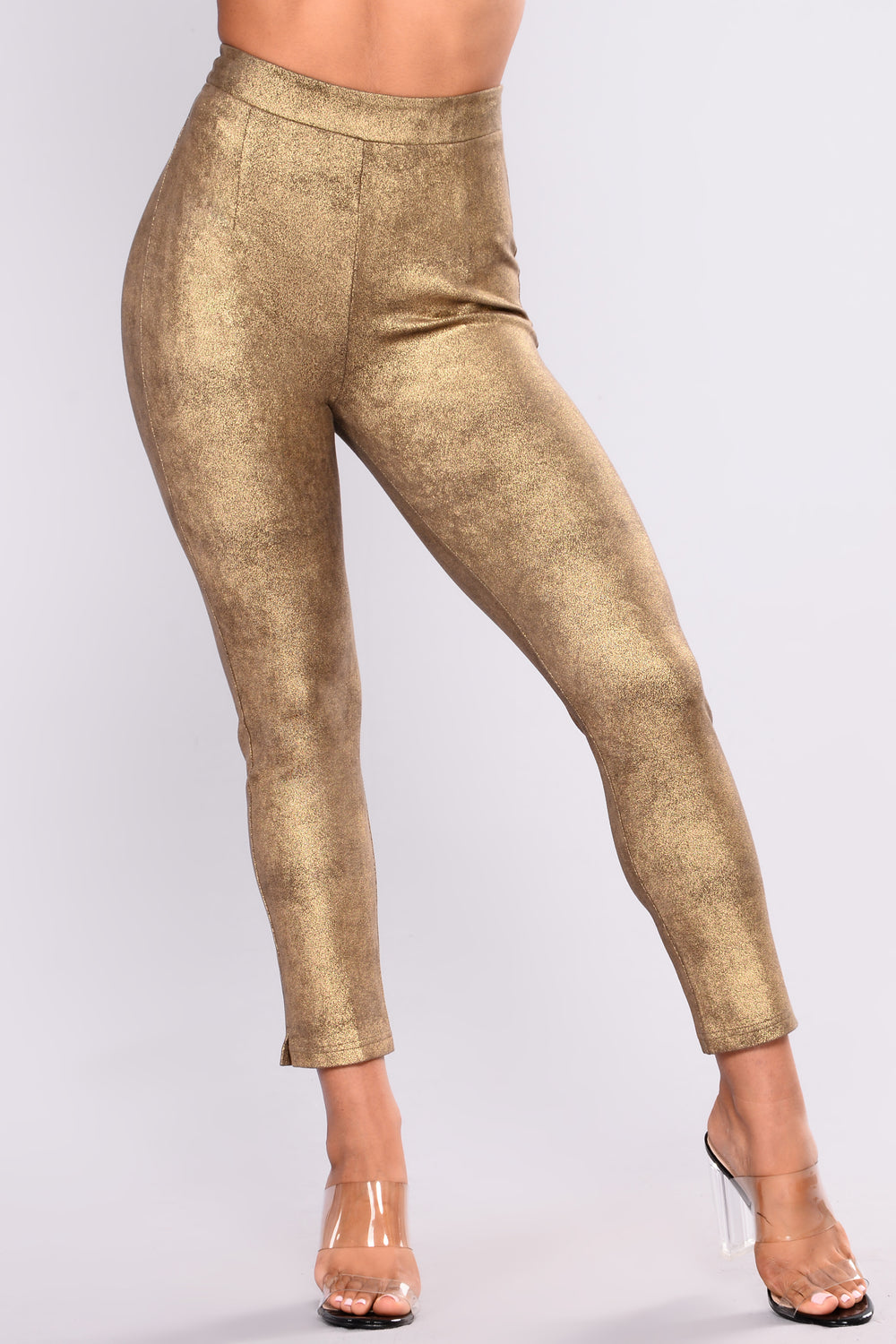 Shine Bright Suede Set - Gold