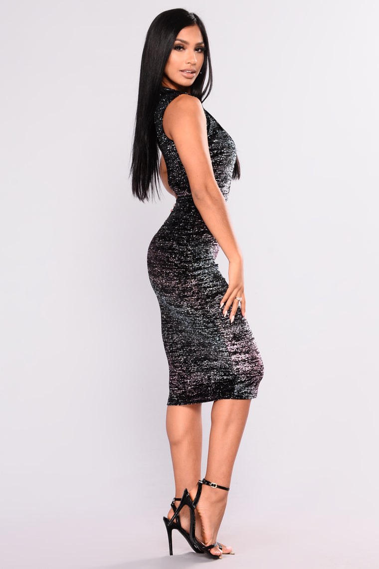 Miss Me When I'm Gone Dress - Multi Color