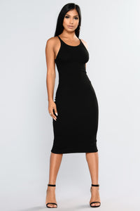 Back Slip Dress - Black Angle 2