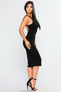 Back Slip Dress - Black Angle 4