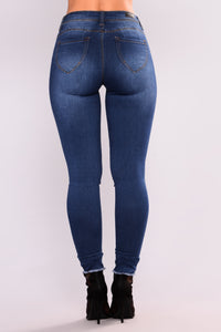 Pascal Skinny Jeans - Medium Blue Wash