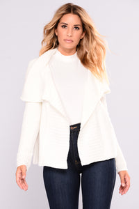 Totally Obsessing Cardigan - Ivory Angle 1
