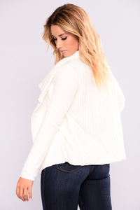 Totally Obsessing Cardigan - Ivory Angle 5