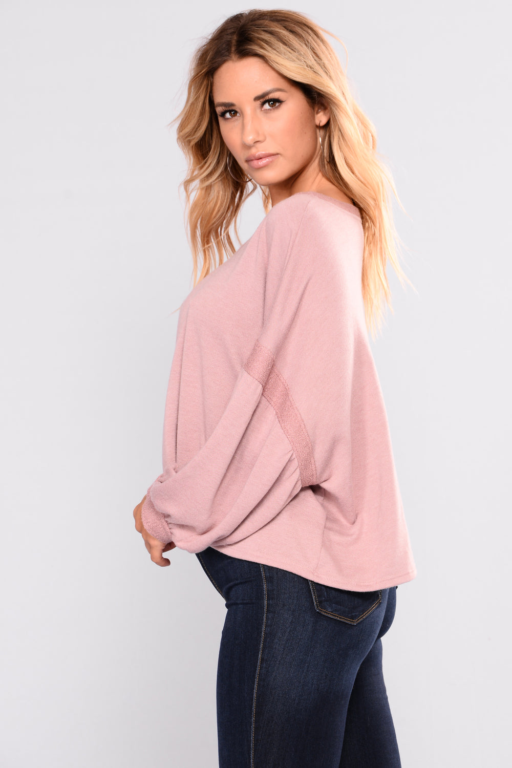 Sunday Snooze Top - Blush