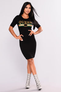 Must Be A Queen Dress - Black