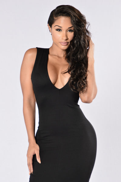 Always A Tease Dress - Black
