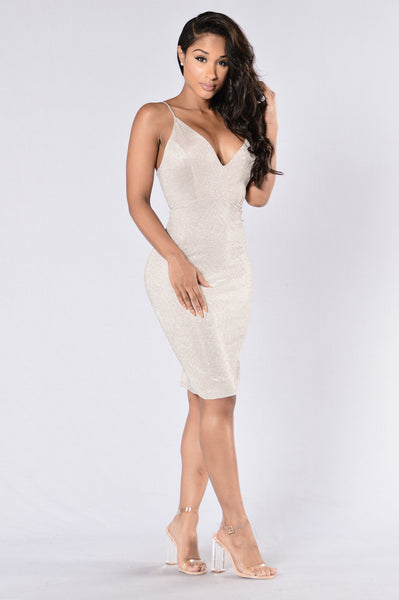 Slammin Dress - Silver