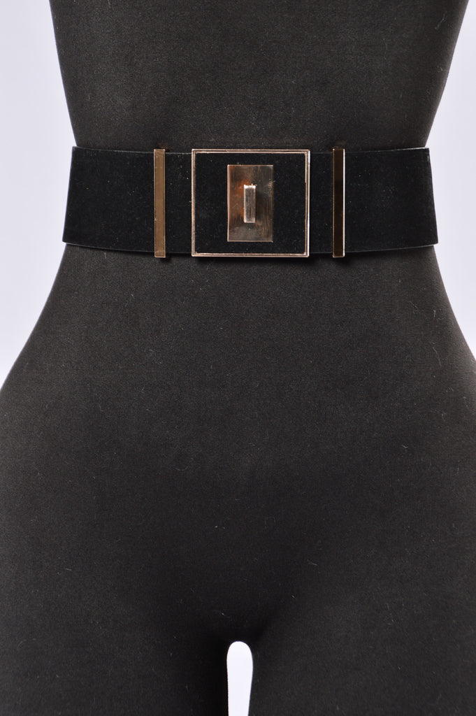 Lock And Key Belt - Black