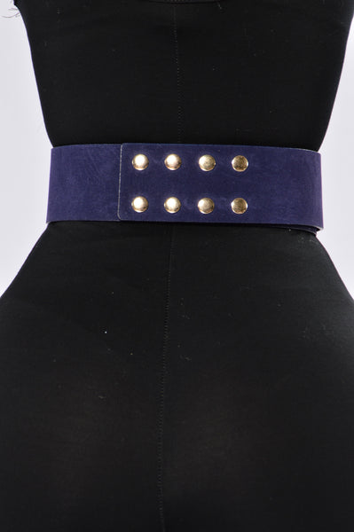 Lock And Key Belt - Navy
