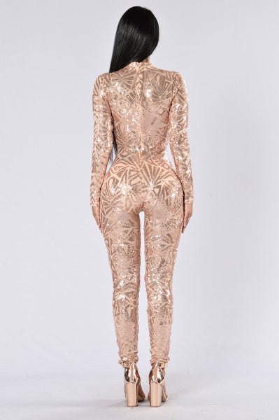 Too Much For You Jumpsuit Rose Gold
