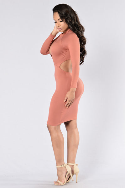 Beautiful Sinner Dress - Marsala