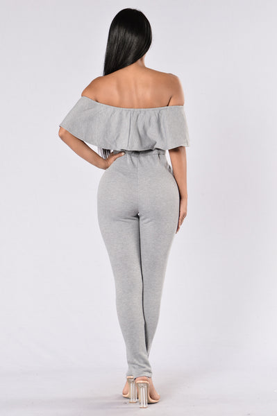 Got What You Need Jumpsuit - Heather Grey