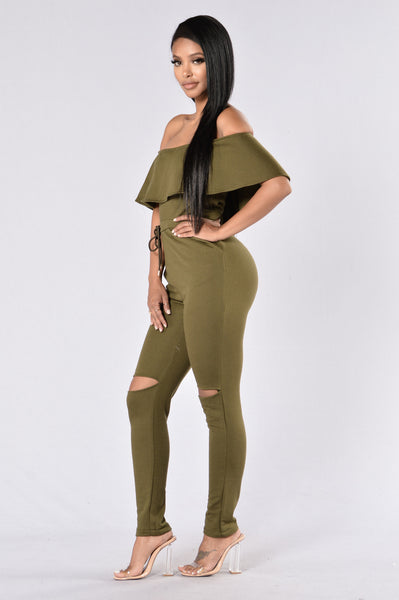 Got What You Need Jumpsuit - Olive