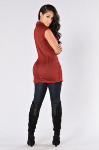 Always Adorable Sweater - Burgundy