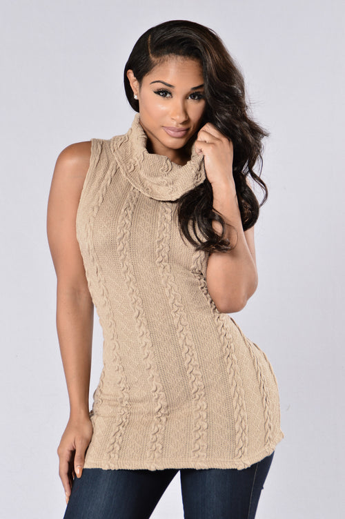 Always Adorable Sweater - Taupe