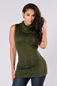 Always Adorable Sweater - Olive