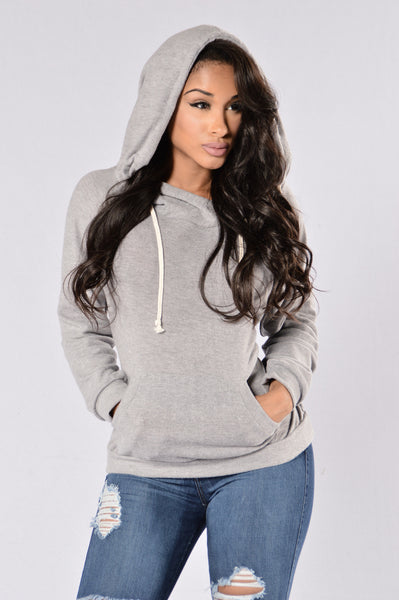 Pray You Catch Me Top - Heather Grey