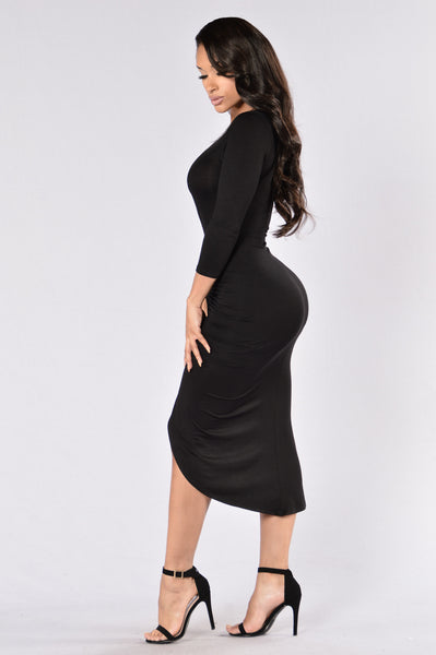 Knew Better Dress - Black