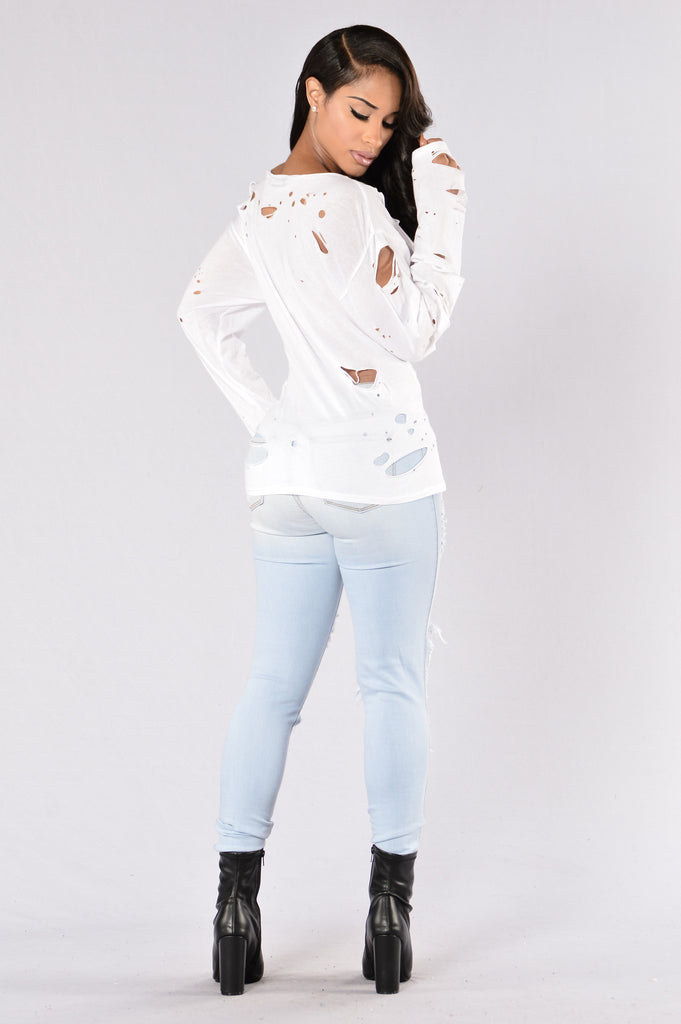Lunch Break Top - White