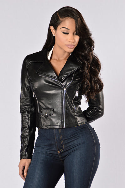 Leather Weather Jacket - Black