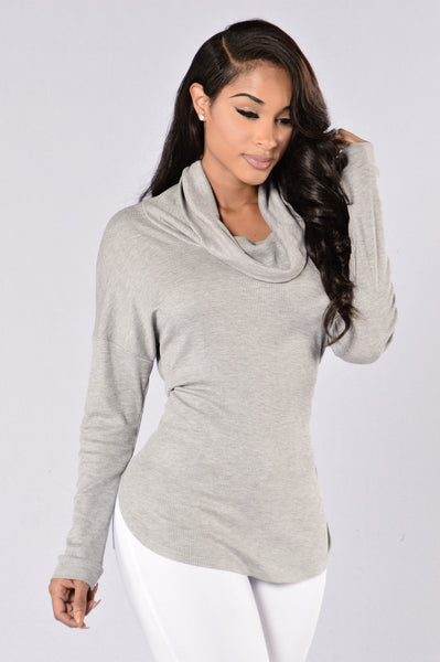 Hide and Seek Sweater - Heather Grey