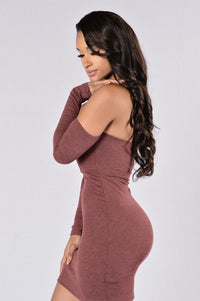 Check On It Dress - Burgundy