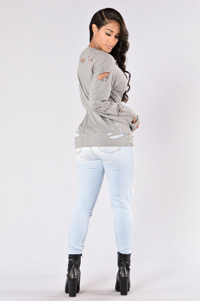Lunch Break Top - Heather Grey