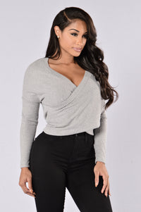 Crossroads Top - Heather Grey