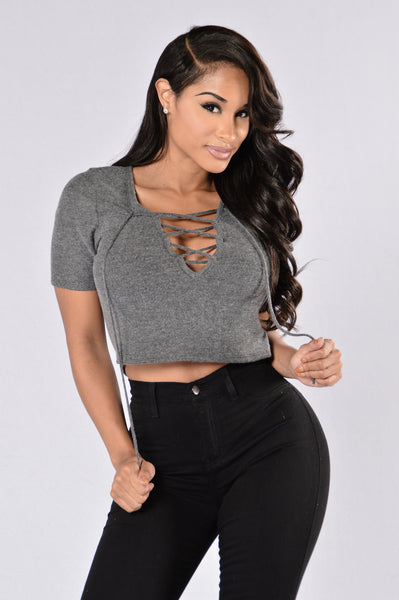 Lucia Top - Charcoal