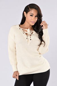 Hot Cocoa Sweater - Ivory