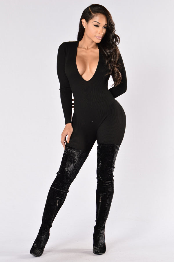 6bb766cb5953 About The Game Jumpsuit - Black