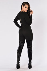 About The Game Jumpsuit - Black