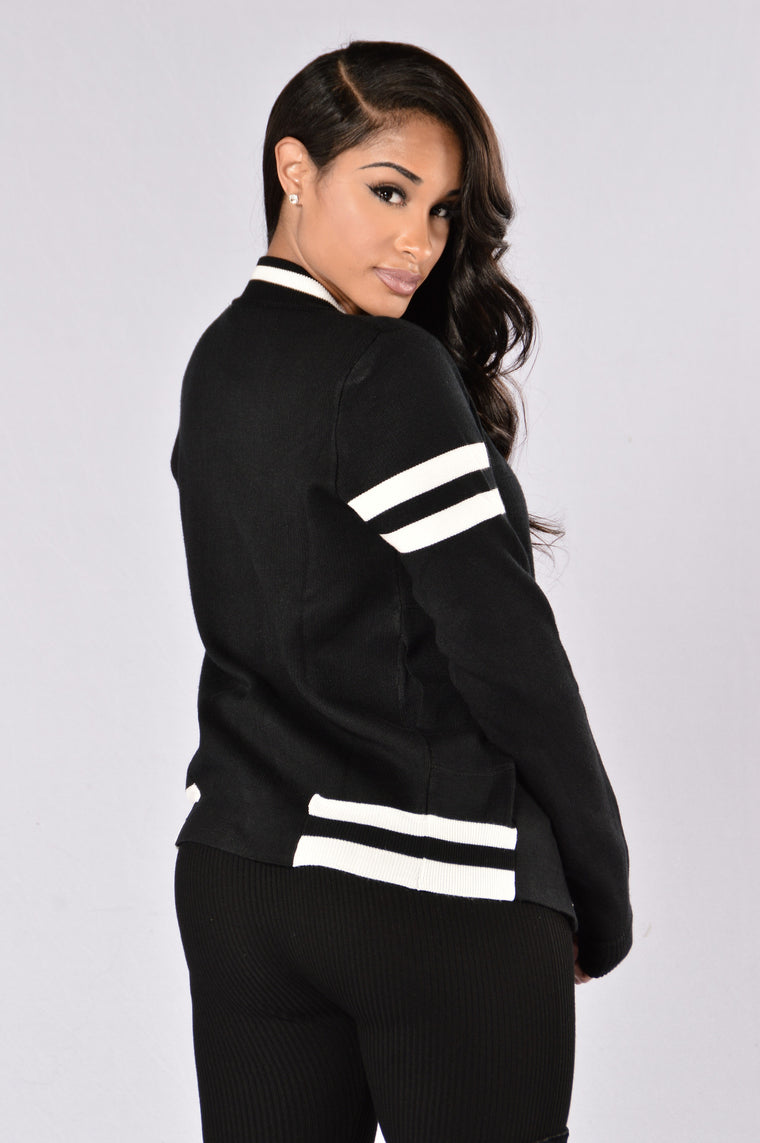 School Spirit Jacket - Black/White