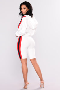 Roberta Stripe Set  - White Multi
