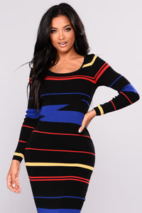 Mod Square Dress - Black/Combo