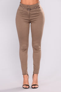 First In Class Pants - Mocha